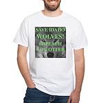 Save Idaho Wolves White T-Shirt