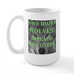 Save Idaho Wolves Large Mug