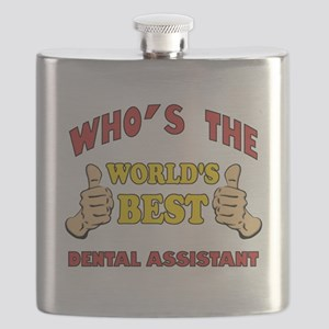 Thumbs Up Worlds Best Dental Assistant Flask