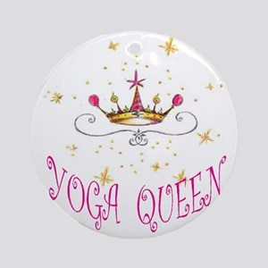 Yoga Queen Round Ornament
