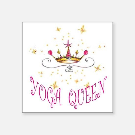 """Yoga Queen Square Sticker 3"""" x 3"""""""