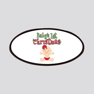 1st Christmas Baby Girl Patches