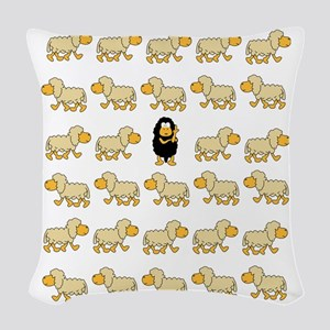 A Sheep with Attitude Woven Throw Pillow