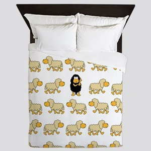 A Sheep with Attitude Queen Duvet