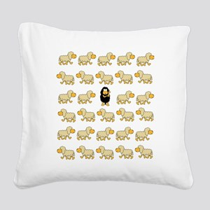 A Sheep with Attitude Square Canvas Pillow