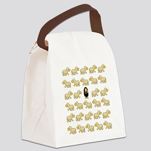 A Sheep with Attitude Canvas Lunch Bag