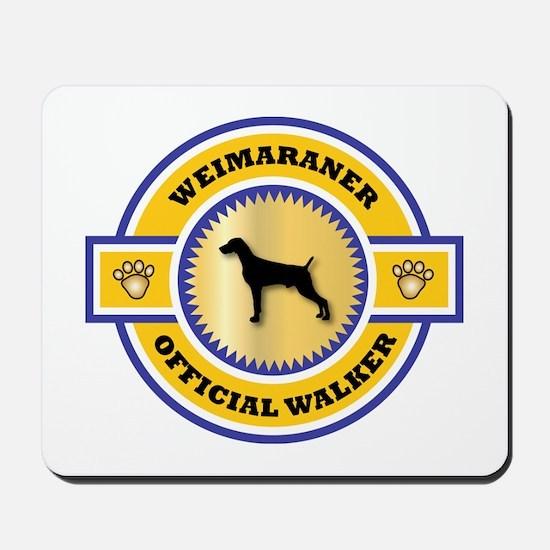 Weimaraner Walker Mousepad