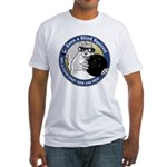 Bowling Blind Squirrel Fitted T-Shirt