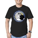 Bowling Blind Squirrel Men's Fitted T-Shirt (dark)