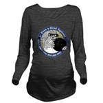 Bowling Blind Squirrel Long Sleeve Maternity T-Shi