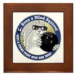 Bowling Blind Squirrel Framed Tile