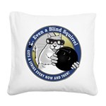 Bowling Blind Squirrel Square Canvas Pillow
