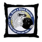 Bowling Blind Squirrel Throw Pillow
