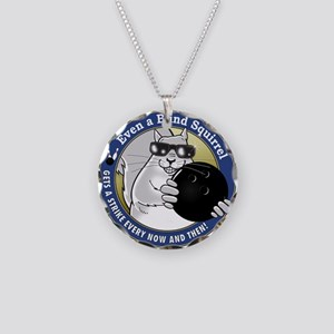 Bowling Blind Squirrel Necklace Circle Charm