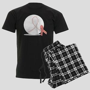Baseball for Breast Cancer Men's Dark Pajamas