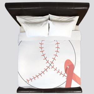 Baseball for Breast Cancer King Duvet