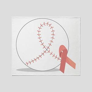 Baseball for Breast Cancer Throw Blanket