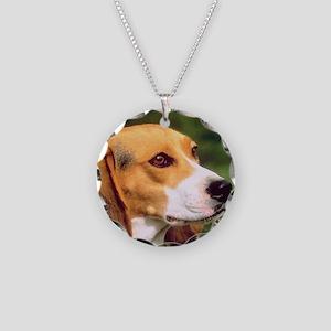 Cute Beagle Necklace Circle Charm