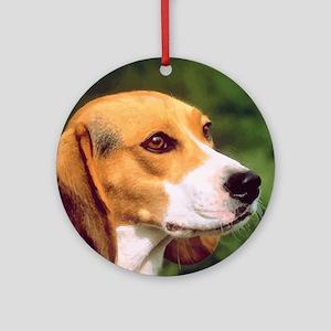 Cute Beagle Round Ornament