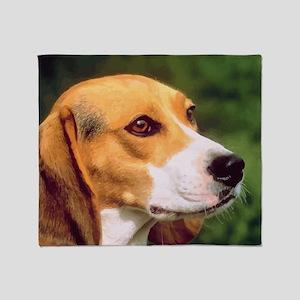 Cute Beagle Throw Blanket