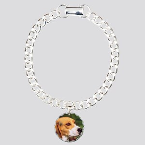 Cute Beagle Charm Bracelet, One Charm