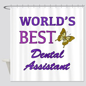 Worlds Best Dental Assistant (Butterfly) Shower Cu