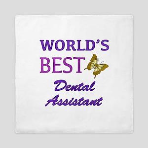Worlds Best Dental Assistant (Butterfly) Queen Duv
