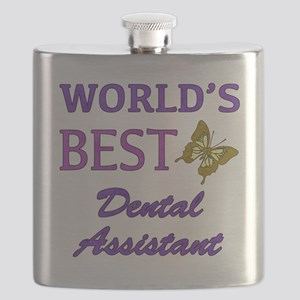 Worlds Best Dental Assistant (Butterfly) Flask