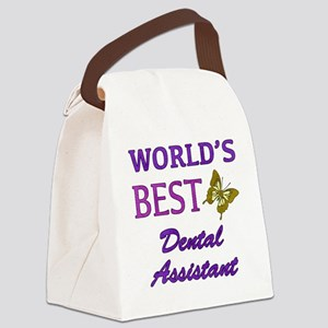 Worlds Best Dental Assistant (Butterfly) Canvas Lu