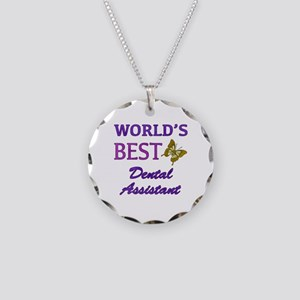Worlds Best Dental Assistant (Butterfly) Necklace