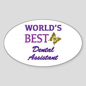 Worlds Best Dental Assistant (Butterfly) Sticker (