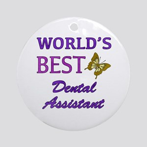 Worlds Best Dental Assistant (Butterfly) Ornament