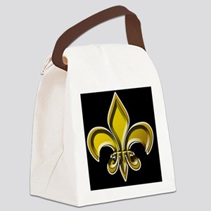 GOLD FDL on BLK 10x10_apparel Canvas Lunch Bag