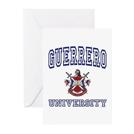GUERRERO University Greeting Cards (Pk of 10)