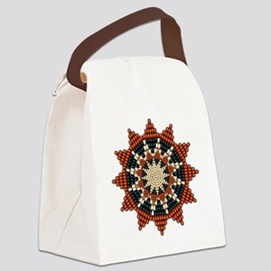 Native American Sunburst Rosette Canvas Lunch Bag