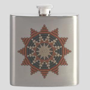 Native American Sunburst Rosette Flask