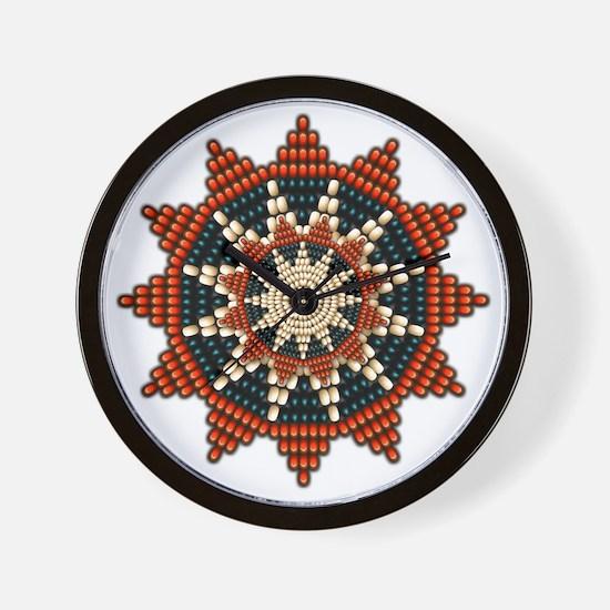 Native American Sunburst Rosette Wall Clock
