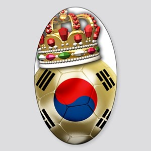 Korea Republic World Cup 6 Sticker (Oval)