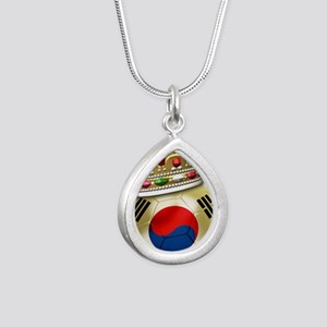 Korea Republic World Cup Silver Teardrop Necklace