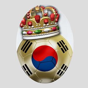 Korea Republic World Cup 6 Oval Ornament