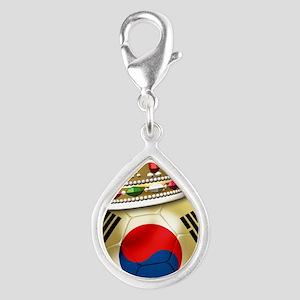 Korea Republic World Cup 6 Silver Teardrop Charm