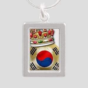 Korea Republic World Cup Silver Portrait Necklace