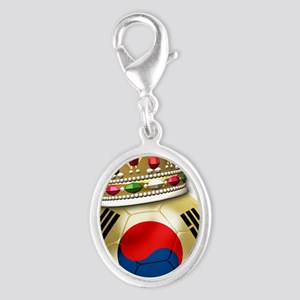 Korea Republic World Cup 6 Silver Oval Charm