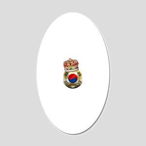 Korea Republic World Cup 6 20x12 Oval Wall Decal