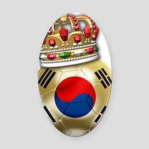Korea Republic World Cup 6 Oval Car Magnet