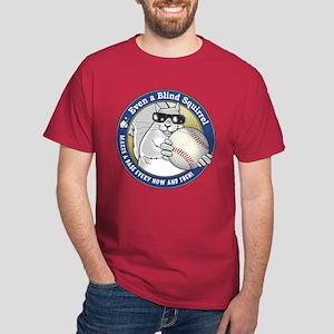 Baseball Blind Squirrel Dark T-Shirt