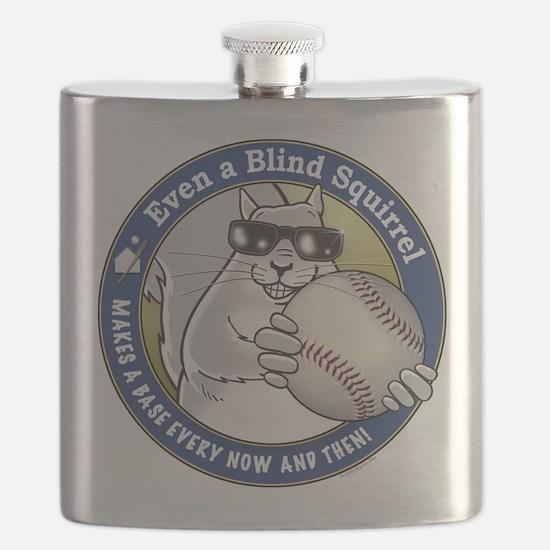 Baseball Blind Squirrel Flask