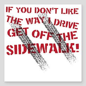"sidewalk Square Car Magnet 3"" x 3"""