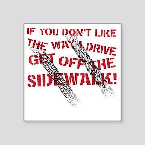 "sidewalk Square Sticker 3"" x 3"""
