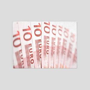 10 Euros 5'x7'Area Rug